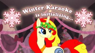 Zimní Karaoke party 2020 - Libuše v2; kresba: Wander Fox