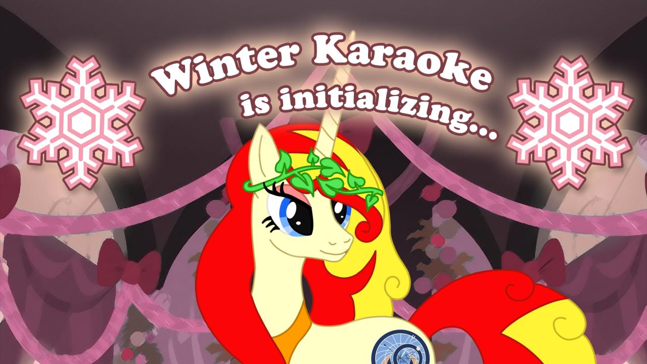 Zimní Karaoke Party 2020 - Online; kresba: Wander Fox