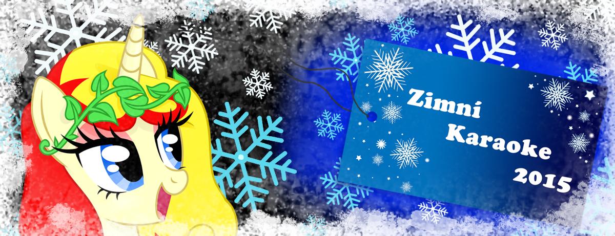 Zimní Karaoke party 2015 - banner